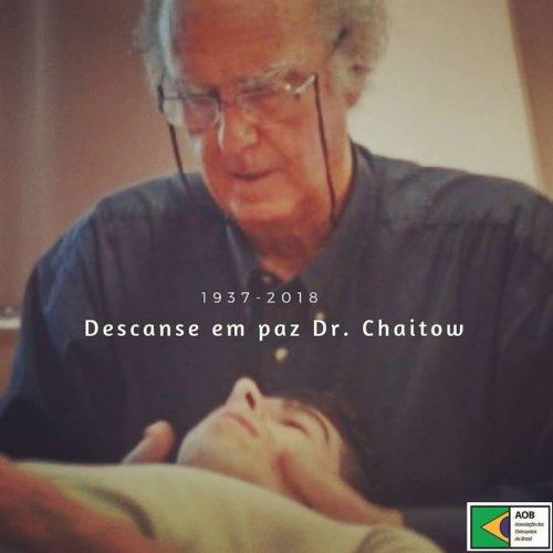 Descanse em paz Dr. Chaitow