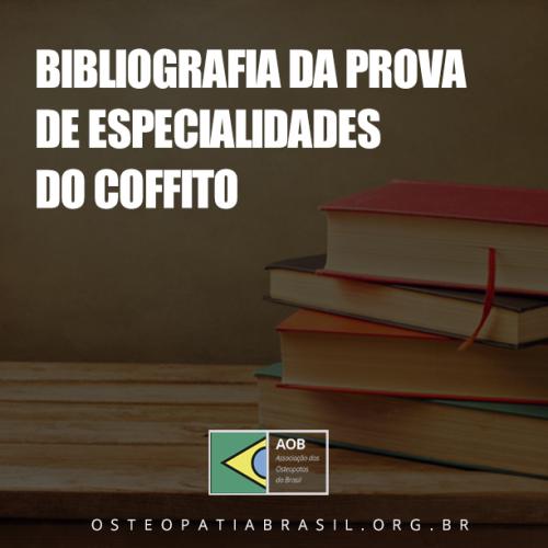 Referência bibliográfica para a prova de especialidade em Osteopatia de 2018
