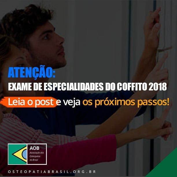 Etapa final do Exame de Especialidades do COFFITO