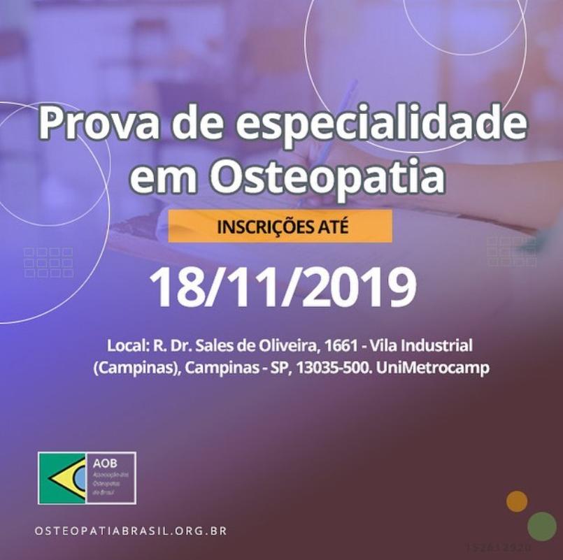 Prova de Especialidade em Osteopatia