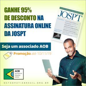 Desconto de 95% na assinatura da JOSPT
