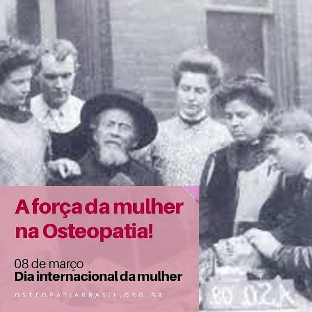 Parabéns a todas mulheres, em especial as Osteopatas