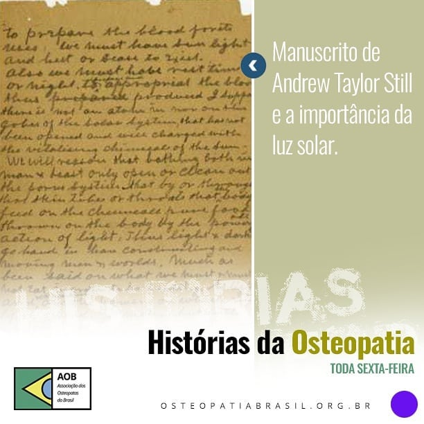 Histórias da Osteopatia: Pérolas do Old Doc.